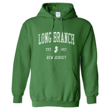 Long Branch New Jersey NJ Hoodie Vintage Sports Design - Adult (Unisex)