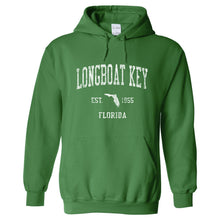 Longboat Key Florida FL Hoodie Vintage Sports Design - Adult (Unisex)