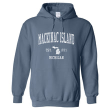 Mackinac Island Michigan MI Hoodie Vintage Sports Design - Adult (Unisex)