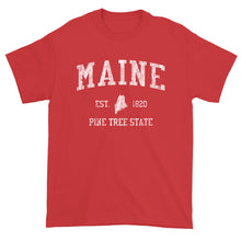 Vintage Maine T-Shirt Sports Design Heavy Cotton Adult Tee