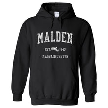 Malden Massachusetts MA Hoodie Vintage Sports Design - Adult (Unisex)
