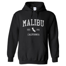 Malibu California CA Hoodie Vintage Sports Design - Adult (Unisex)