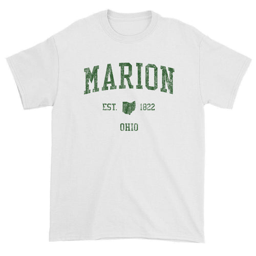 Vintage Marion Ohio OH T-Shirts Red Print