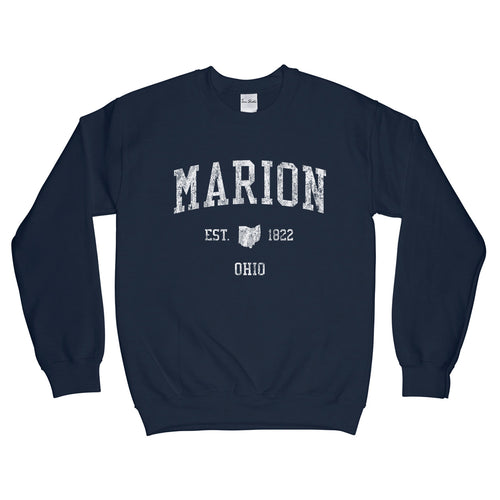 Marion Ohio OH Sweatshirt Vintage Sports Design - Adult (Unisex)