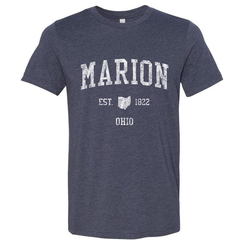 Marion Ohio OH T-Shirt Vintage Sports Design - Adult (Unisex Tee)
