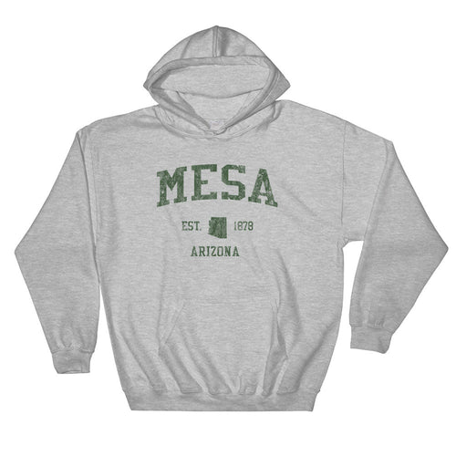 Vintage Mesa Arizona AZ Hoodie Adult  (Green Print)