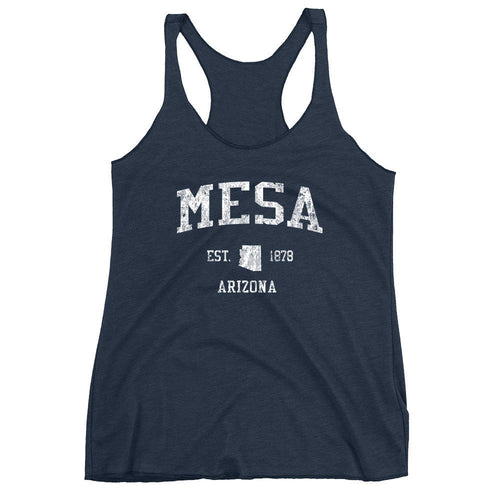 Vintage Mesa Arizona AZ Women's Racerback Tank Top