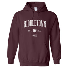 Middletown Ohio OH Hoodie Vintage Sports Design - Adult (Unisex)