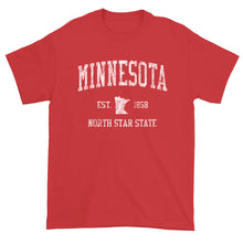 Vintage Minnesota T-Shirt Sports Design Heavy Cotton Adult Tee