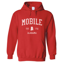 Mobile Alabama AL Hoodie Vintage Sports Design - Adult (Unisex)