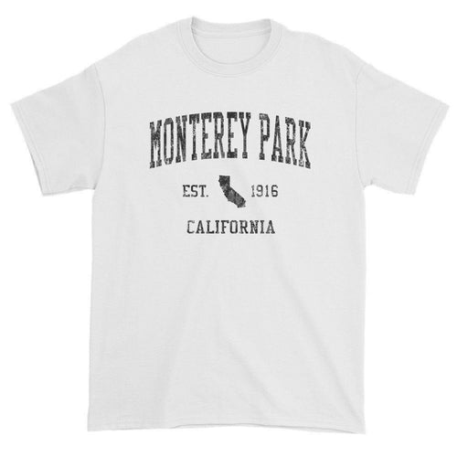 Vintage Monterey Park California CA T-Shirts Red Print
