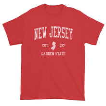 Vintage New Jersey NJ T-Shirt Sports Design Heavy Cotton Adult Tee