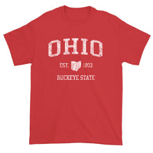 Vintage Ohio T-Shirt Sports Design Heavy Cotton Adult Tee
