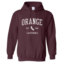 Orange California CA Hoodie Vintage Sports Design - Adult (Unisex)