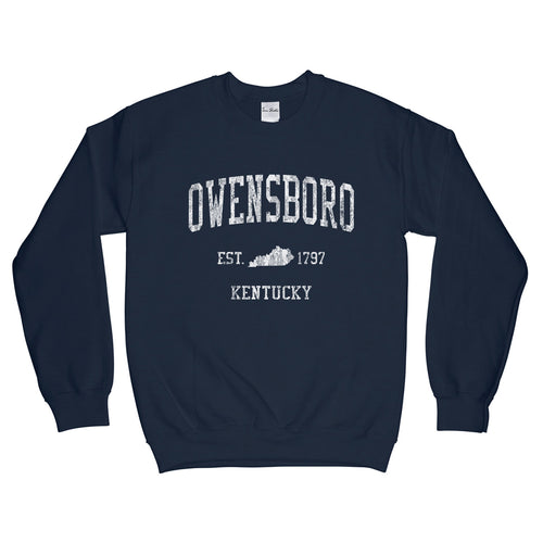 Owensboro Kentucky KY Sweatshirt Vintage Sports Design - Adult (Unisex)