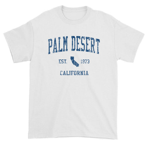 Vintage Palm Desert California CA T-Shirts Red Print