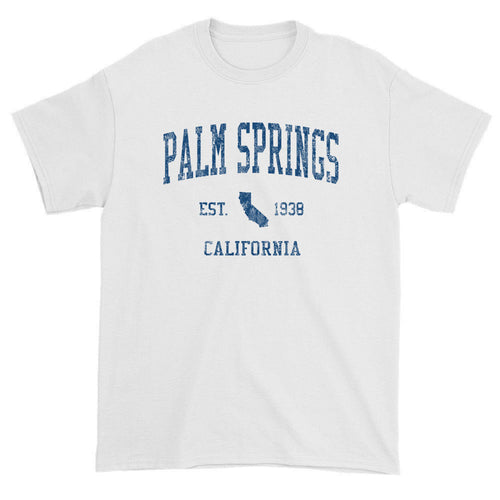 Vintage Palm Springs California CA T-Shirts Red Print