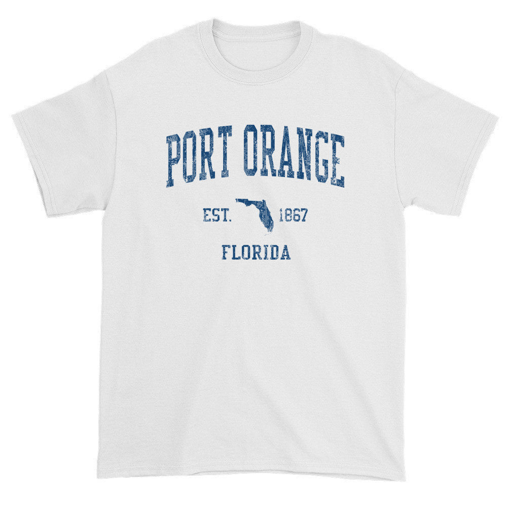 Vintage Port Orange Florida FL T-Shirts Red Print