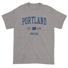 Vintage Portland Oregon OR T-Shirt Adult (Navy Print)