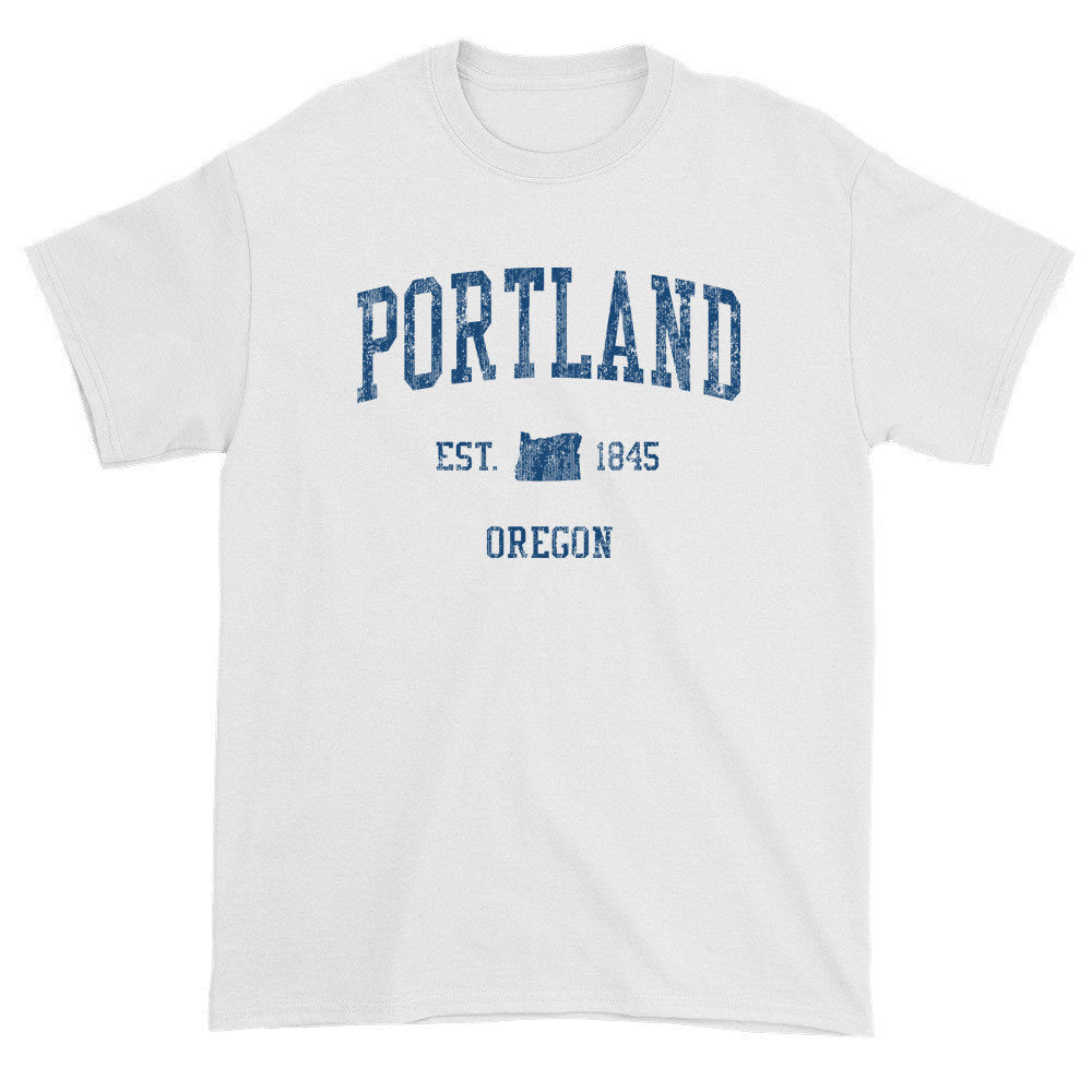 Vintage Portland Oregon OR T-Shirts Red Print