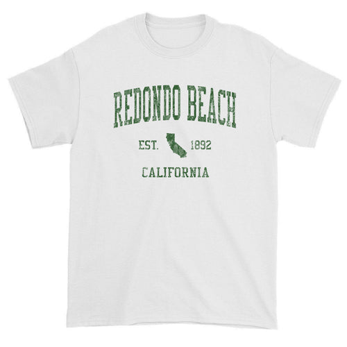 Vintage Redondo Beach California CA T-Shirts Red Print