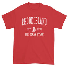 Vintage Rhode Island T-Shirt Sports Design Heavy Cotton Adult Tee