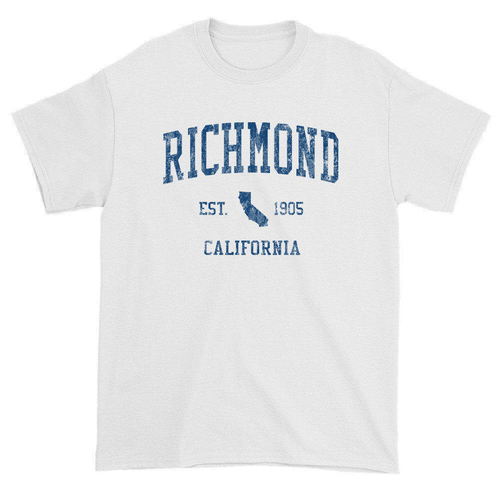Vintage Richmond California CA T-Shirts Red Print