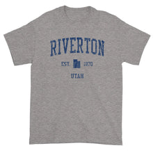Vintage Riverton Utah UT T-Shirt Adult (Navy Print)