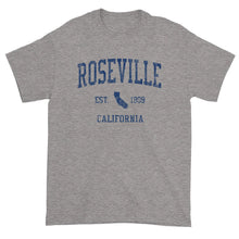 Vintage Roseville California CA T-Shirt Adult (Navy Print)