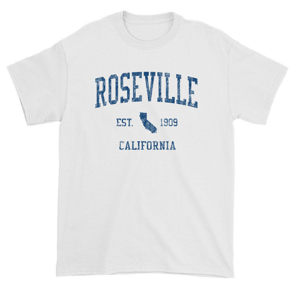 Vintage Roseville California CA T-Shirts Red Print