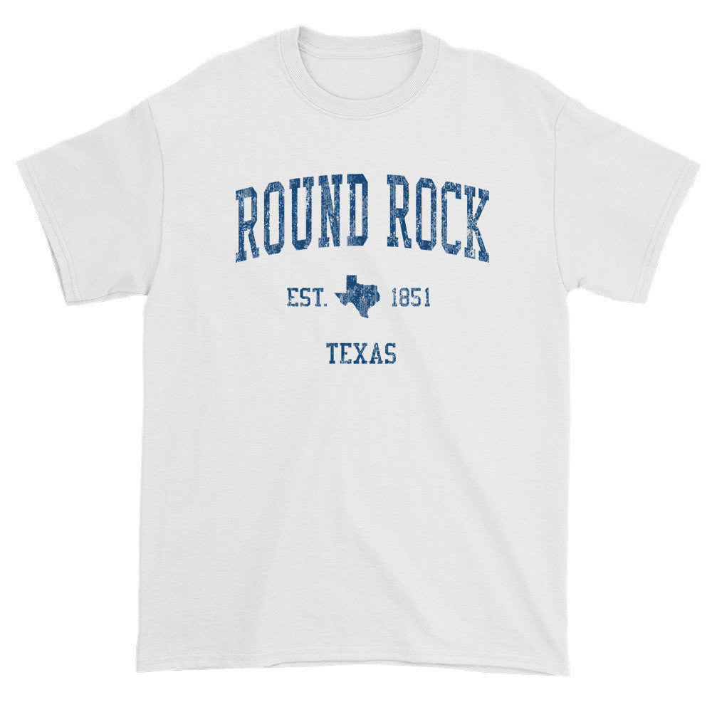 Vintage Round Rock Texas TX T-Shirts Red Print