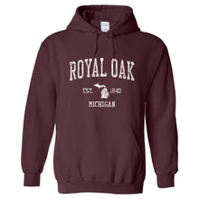 Royal Oak Michigan MI Hoodie Vintage Sports Design - Adult (Unisex)