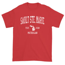 Vintage Sault Ste Marie Michigan MI T-Shirt Adult