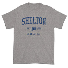 Vintage Shelton Connecticut CT T-Shirt Adult (Navy Print)