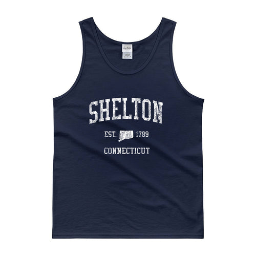 Vintage Shelton Connecticut CT Tank Top Adult