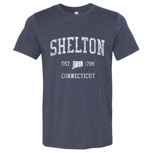 Shelton Connecticut CT T-Shirt Vintage Sports Design - Adult (Unisex Tee)