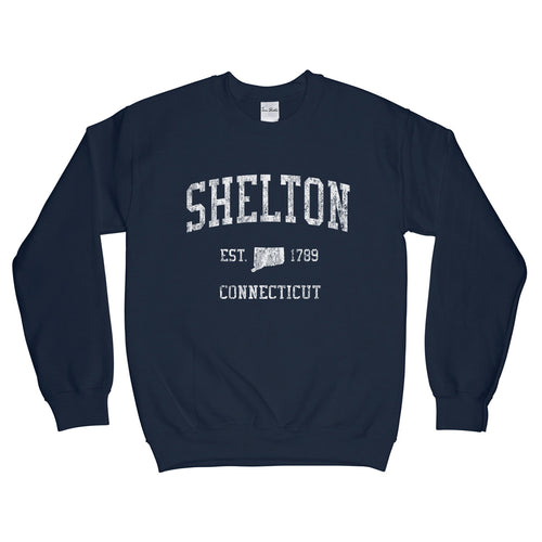 Shelton Connecticut CT Sweatshirt Vintage Sports Design - Adult (Unisex)
