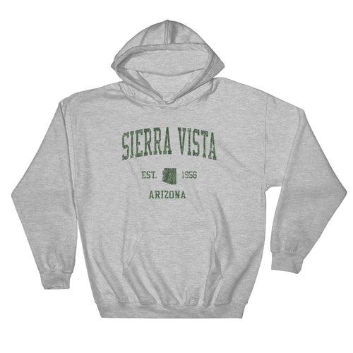 Vintage Sierra Vista Arizona AZ Hoodie Adult  (Green Print)