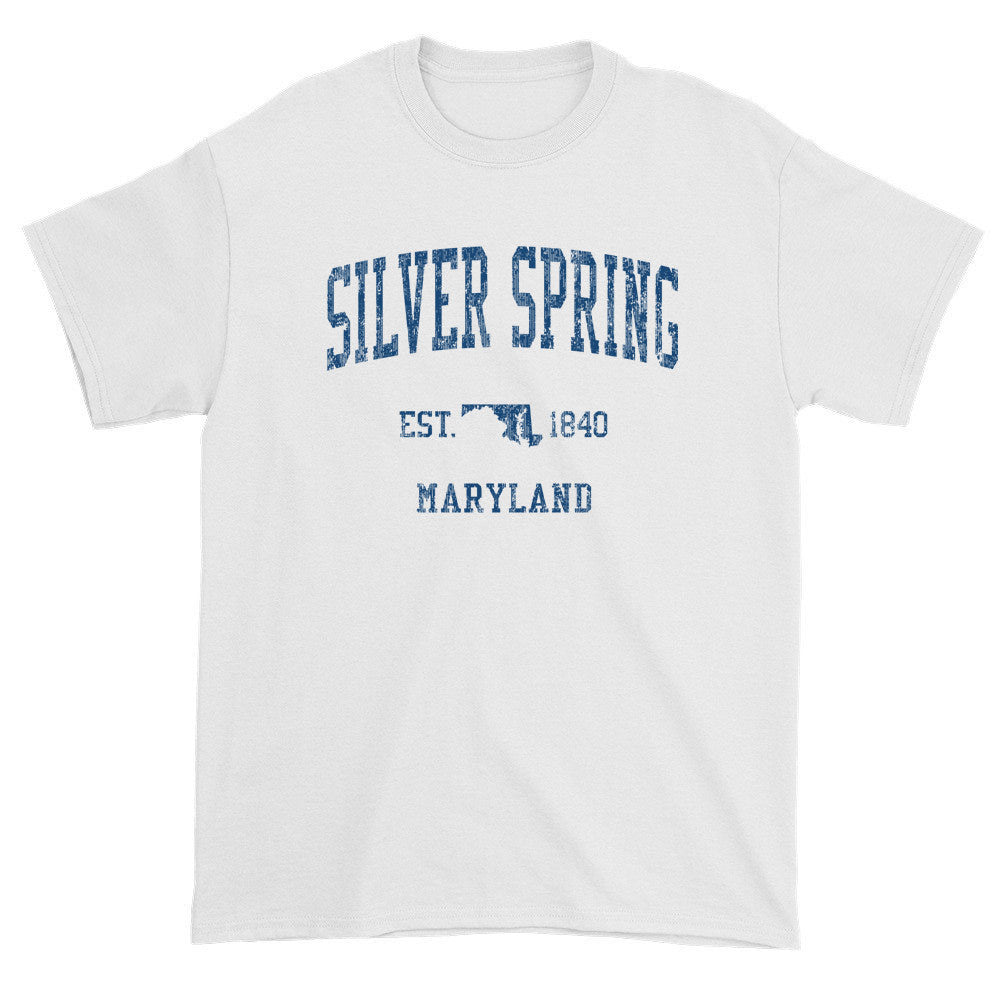Vintage Silver Spring Maryland MD T-Shirts Red Print