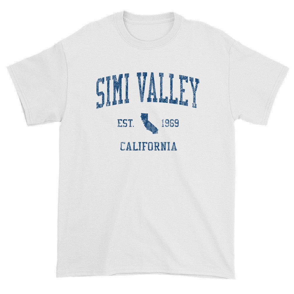 Vintage Simi Valley California CA T-Shirts Red Print