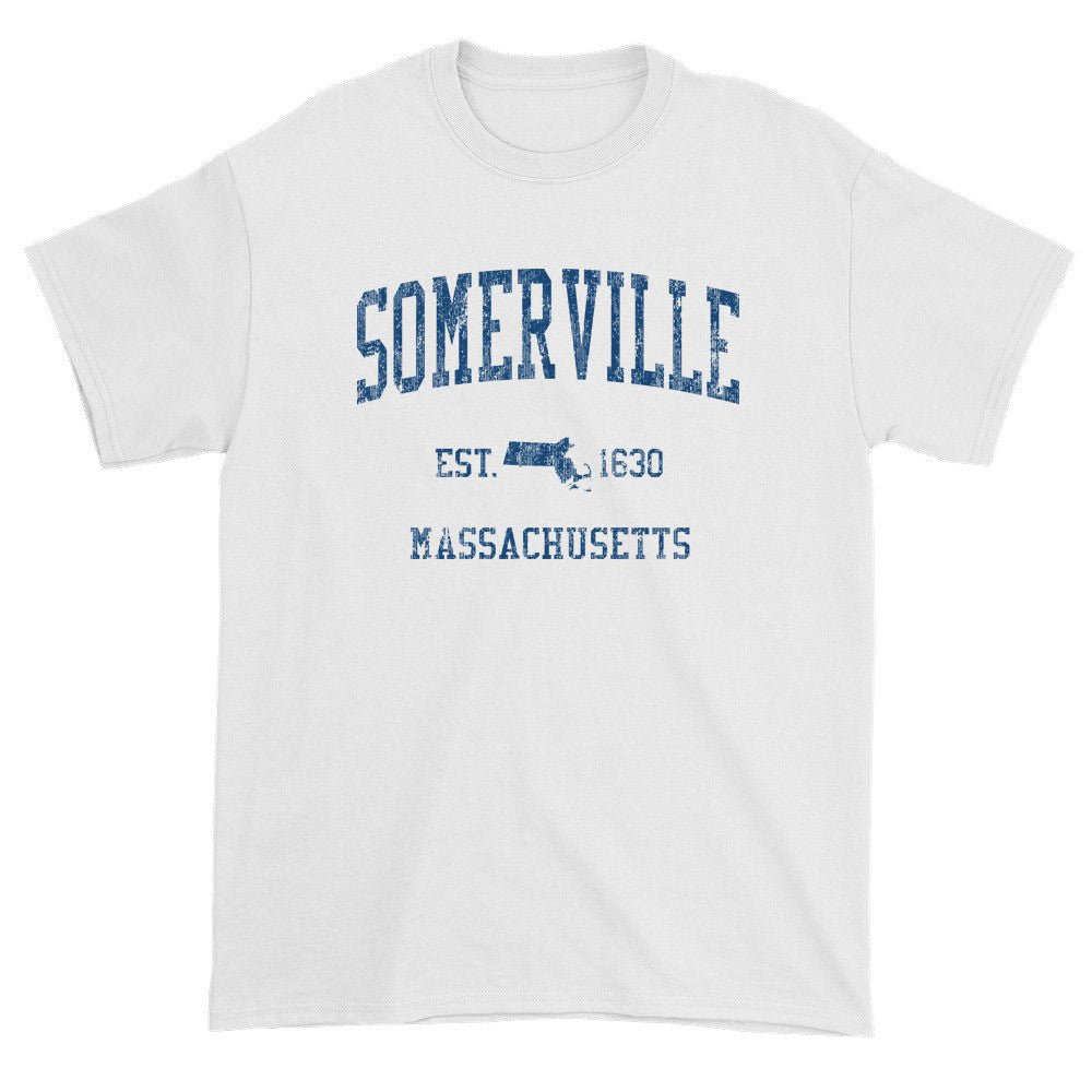 Vintage Somerville Massachusetts MA T-Shirts Red Print