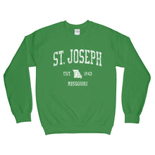 St Joseph Missouri MO Sweatshirt Vintage Sports Design - Adult (Unisex)