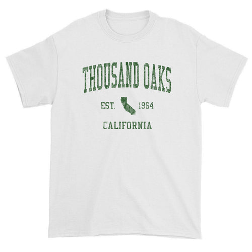 Vintage Thousand Oaks California CA T-Shirts Red Print