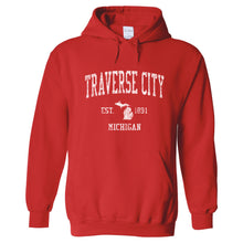 Traverse City Michigan MI Hoodie Vintage Sports Design - Adult (Unisex)