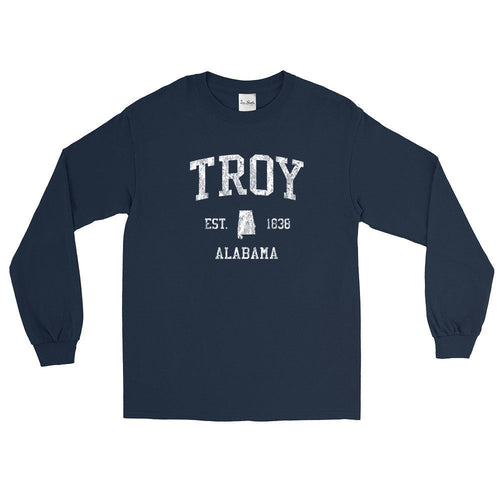 Vintage Troy Alabama AL Adult Long Sleeve T-Shirt (Unisex)