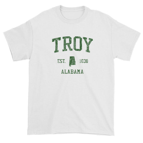 Vintage Troy Alabama AL T-Shirts Red Print
