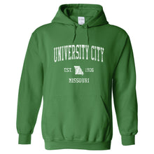 University City Missouri MO Hoodie Vintage Sports Design - Adult (Unisex)