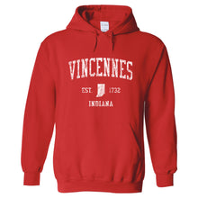 Vincennes Indiana IN Hoodie Vintage Sports Design - Adult (Unisex)