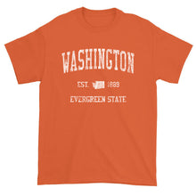 Vintage Washington T-Shirt Sports Design Heavy Cotton Adult Tee