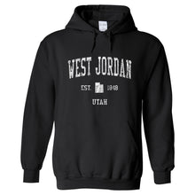 West Jordan Utah UT Hoodie Vintage Sports Design - Adult (Unisex)